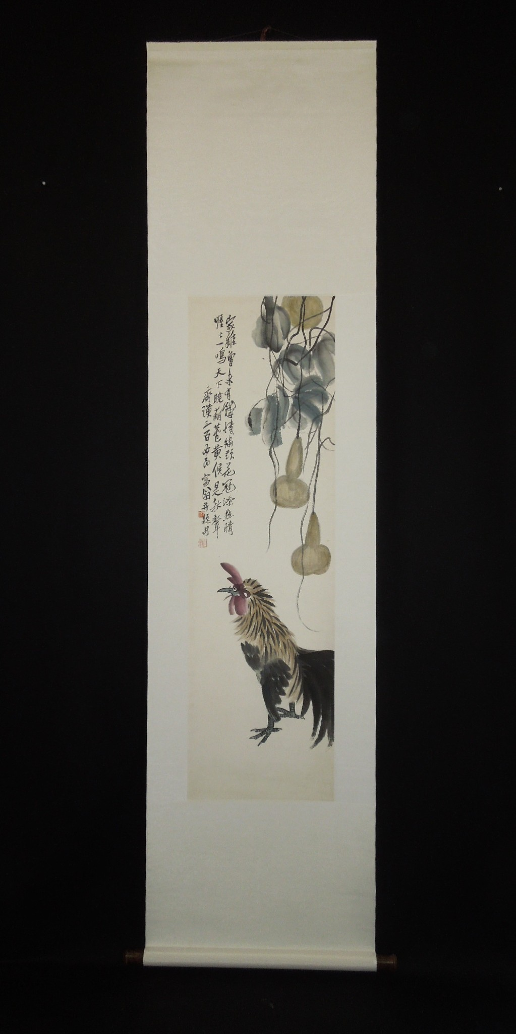 Chinese animals birds & flowers Hanging Scroll