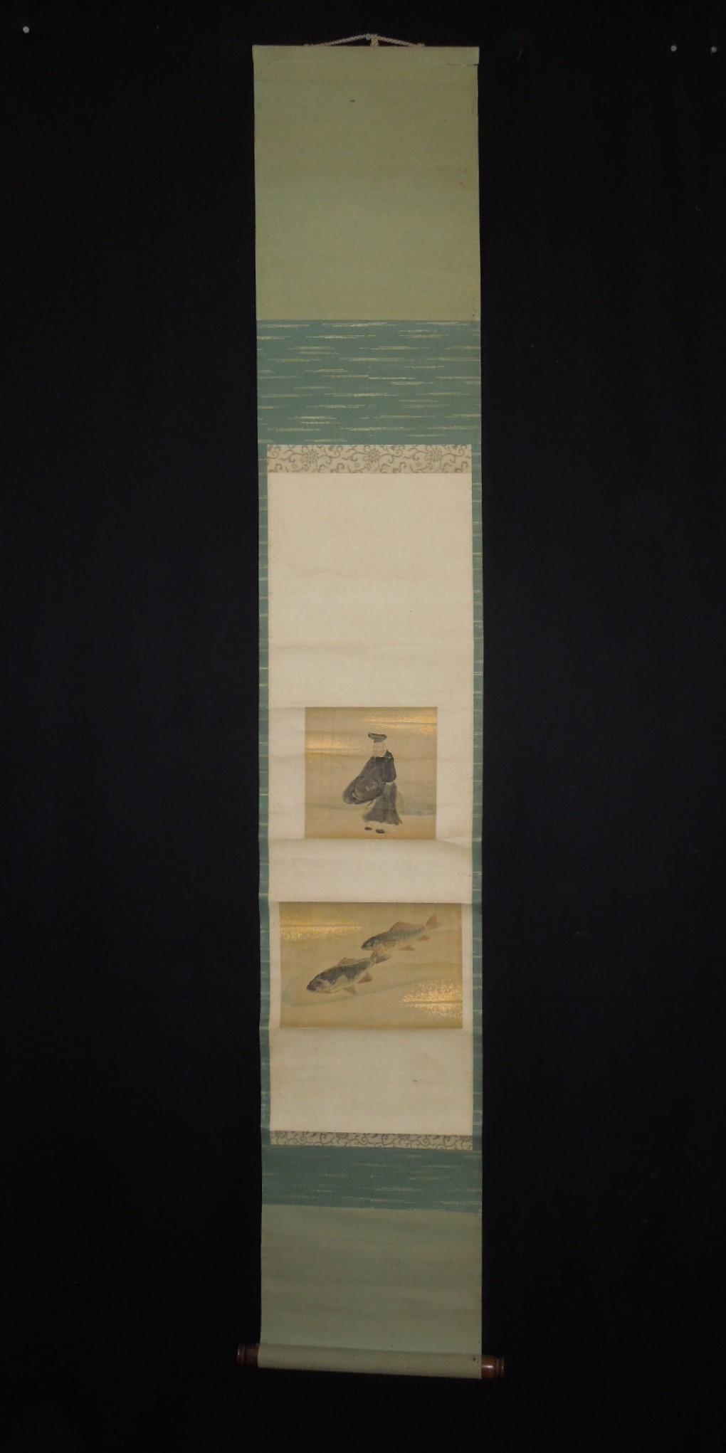 ■japanese figure paintings hanging scroll