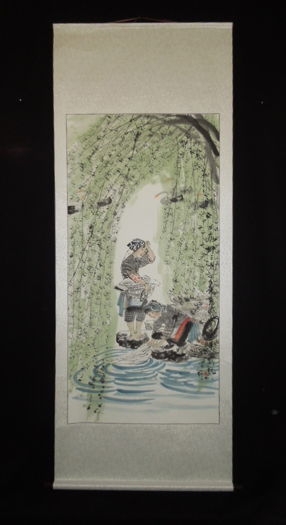 chinese figure paintings hanging scroll