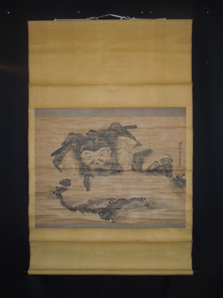 ■japanese figure paintings hanging scroll