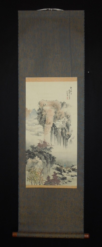 chinese landscape painting hanging scroll